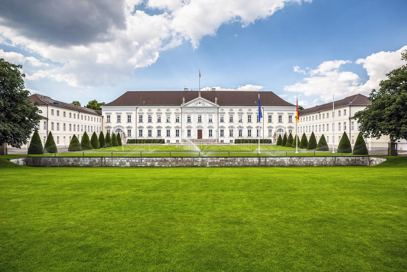 Schloss Bellevue in Berlin, Germany. Schloss Bellevue (Bellevue Palace) in Berlin, official residence of the President of Germany stock photo