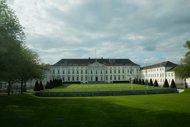 Schloss Bellevue lub Bellevue pałac, Berlin zdjęcie stock