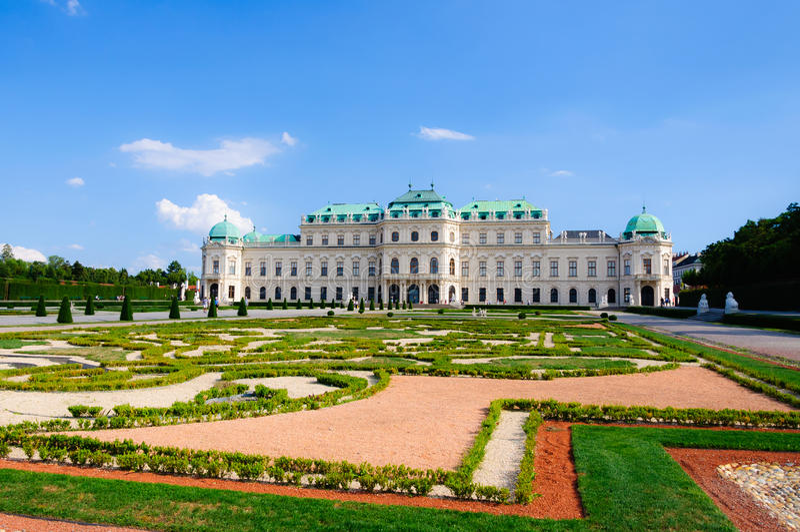 Schloss Belvedereslott Wien Österrike arkivbild