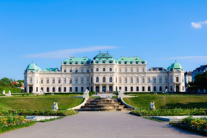 Schloss Belvedereslott Wien Österrike arkivfoton