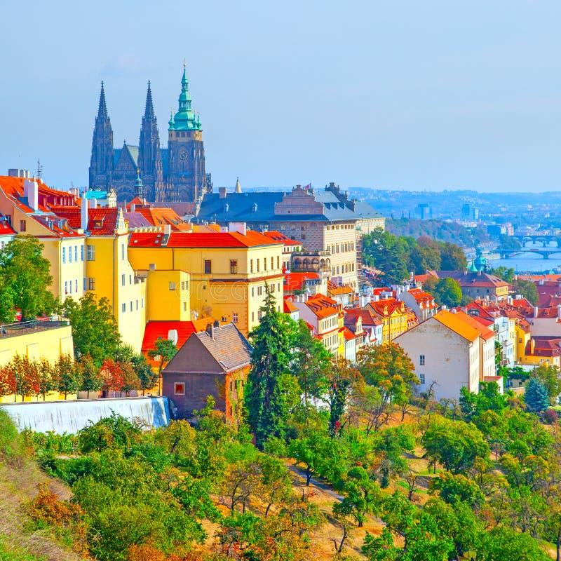 Schloss-Bezirk in Prag stockfoto