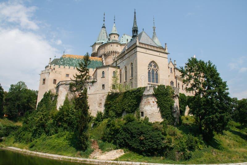 Schloss in Bojnice stockbild