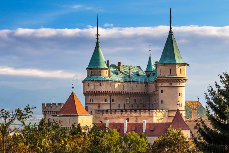 Schloss Bojnice stockfotos