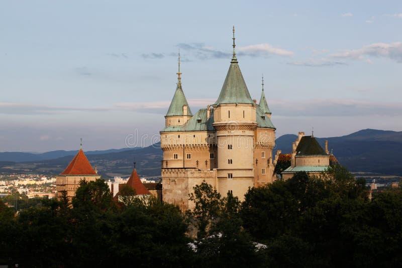 Schloss Bojnice, Slowakei stockbild