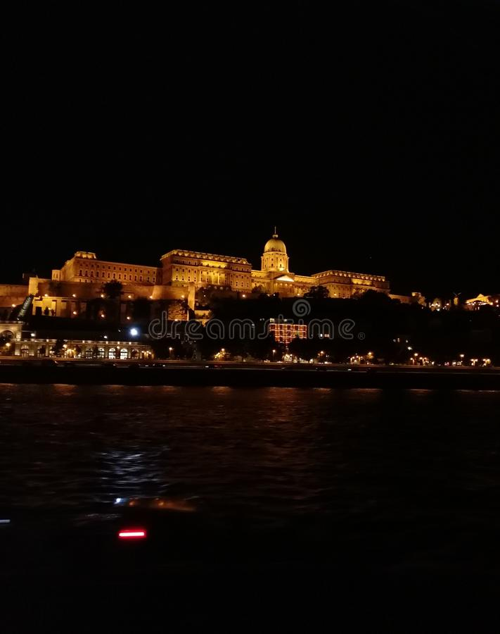 Schloss in Budapest stockfotografie