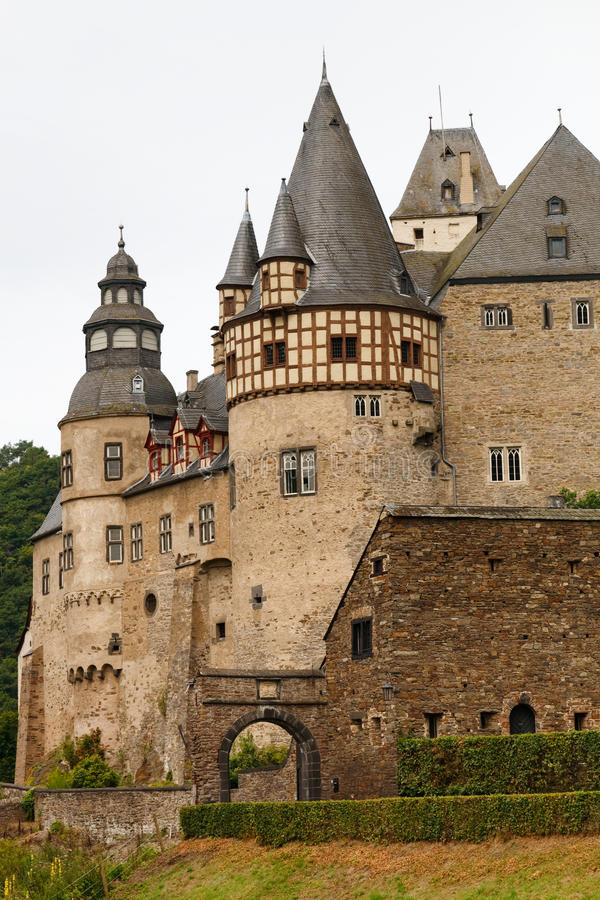 Schloss Buerresheim (Kasteel Burresheim), Duitsland stock fotografie