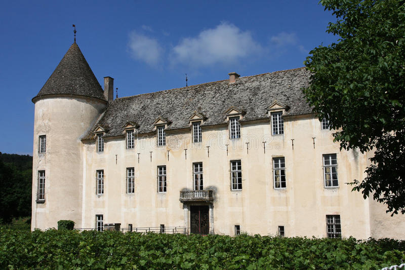 Schloss in Burgunder stockfotos