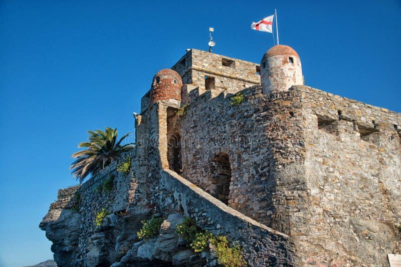 Schloss Camogli stockbild