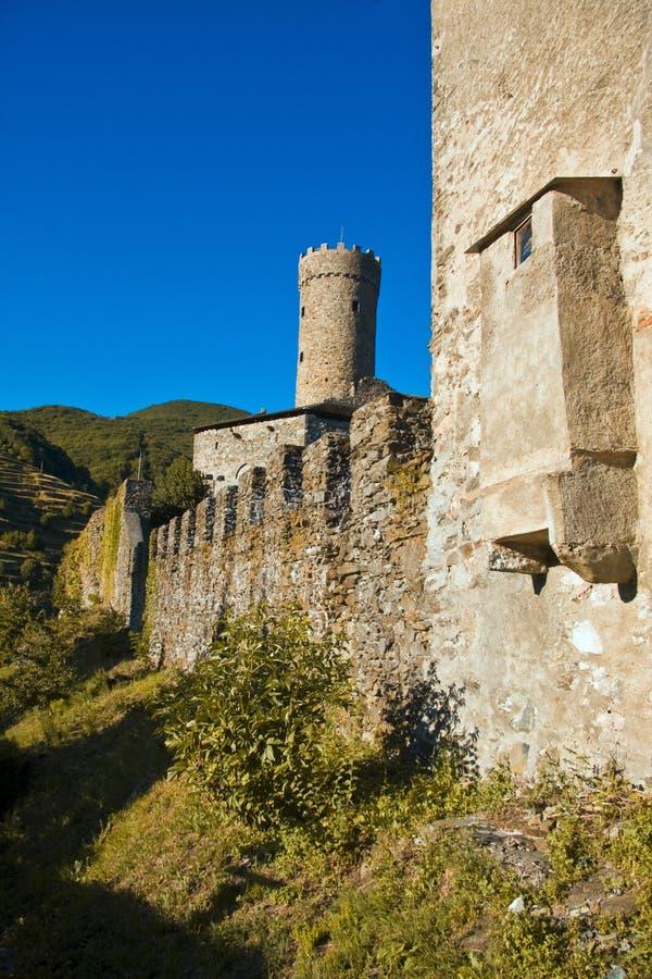 Schloss Campo-Ligures stockfotos