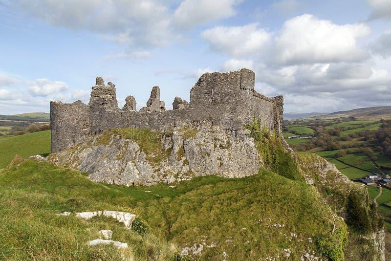 Schloss Carreg Cennen lizenzfreie stockbilder