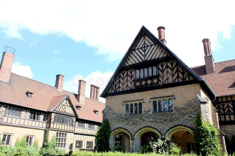 Schloss Cecilienhof, the place of Potsdam Conferen royalty free stock image