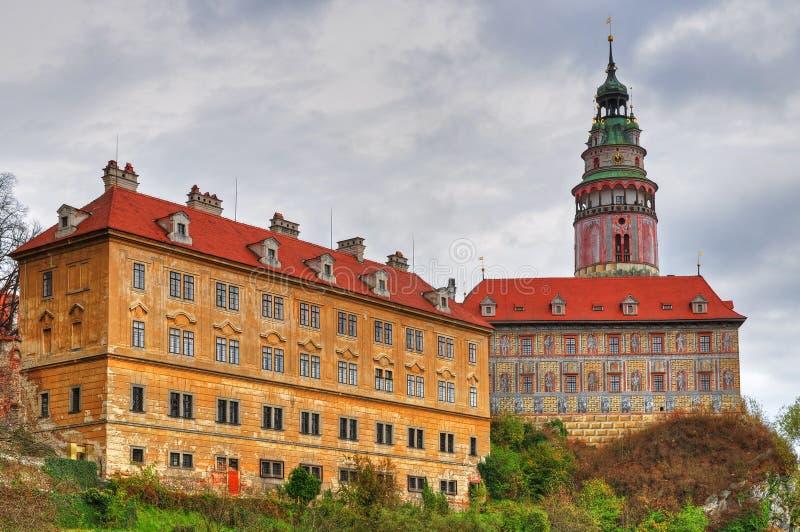 Schloss in Cesky Krumlov stockbilder