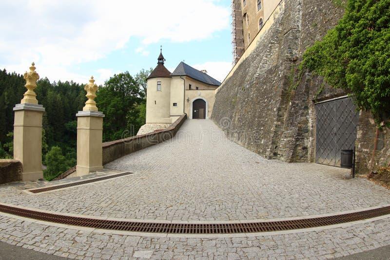 Schloss Cesky Sternberk, Czechia stockfoto