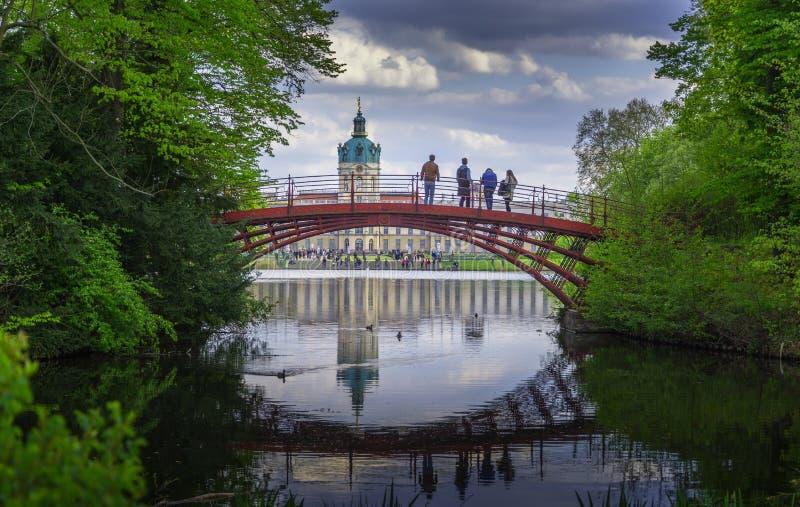 Schloss Charlottenburg - palácio de Charlottenburg foto de stock royalty free