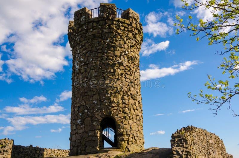 Schloss Craig an Hubbard-Park stockbilder