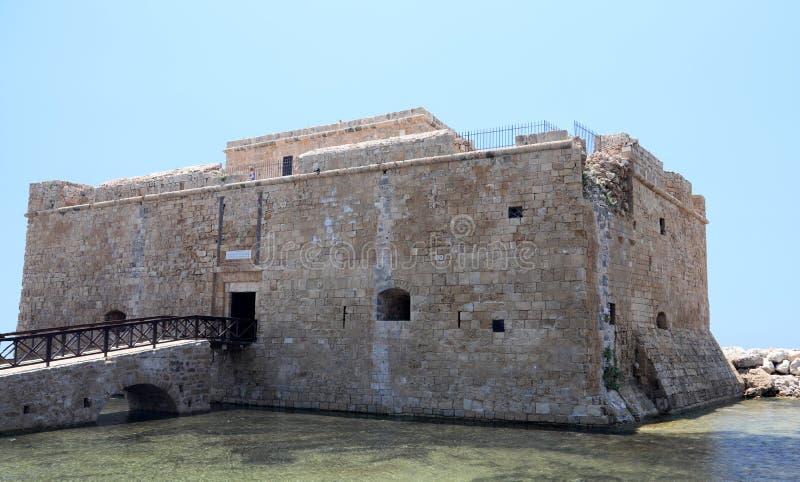 Schloss in den paphos Zypern stockbild