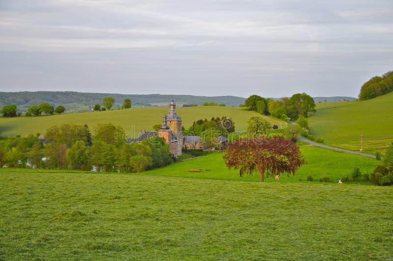 Schloss in der Geuldal-Region, Vaals stockbilder