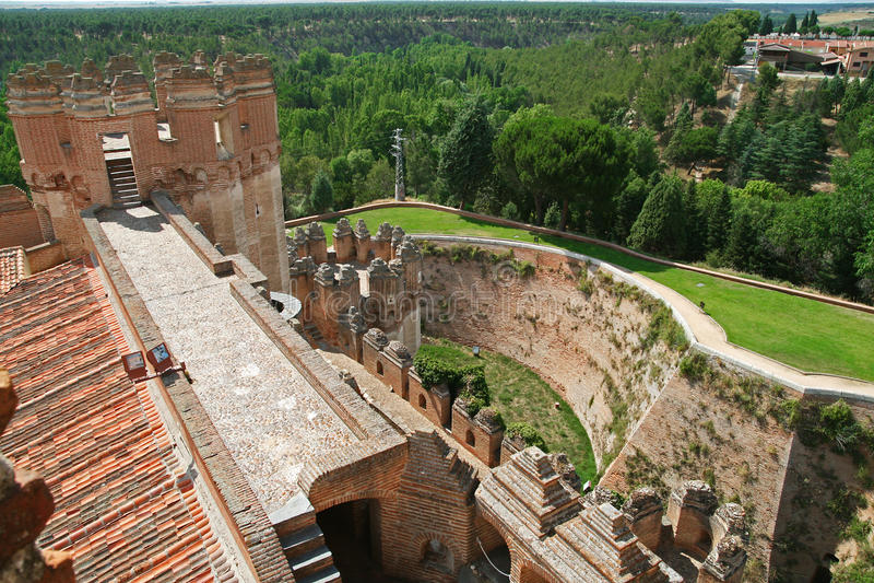 Schloss in der Koka, Spanien lizenzfreies stockfoto