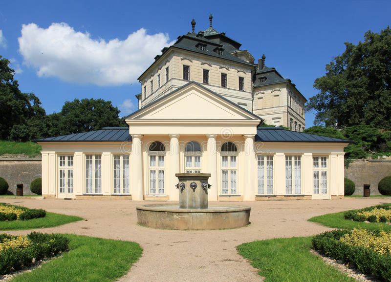 Schloss der Tschechischen Republik lizenzfreies stockbild