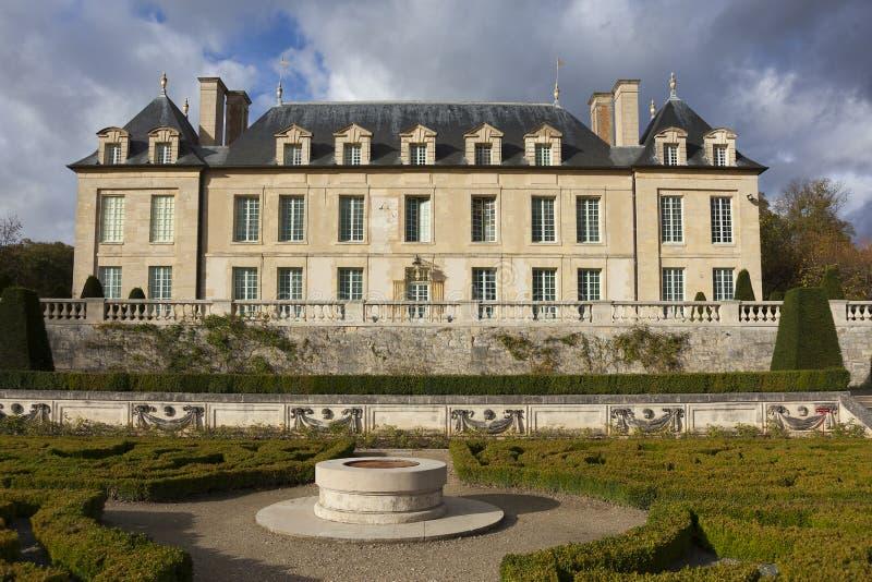 Schloss des Auvers-sur-Oise stockfotografie