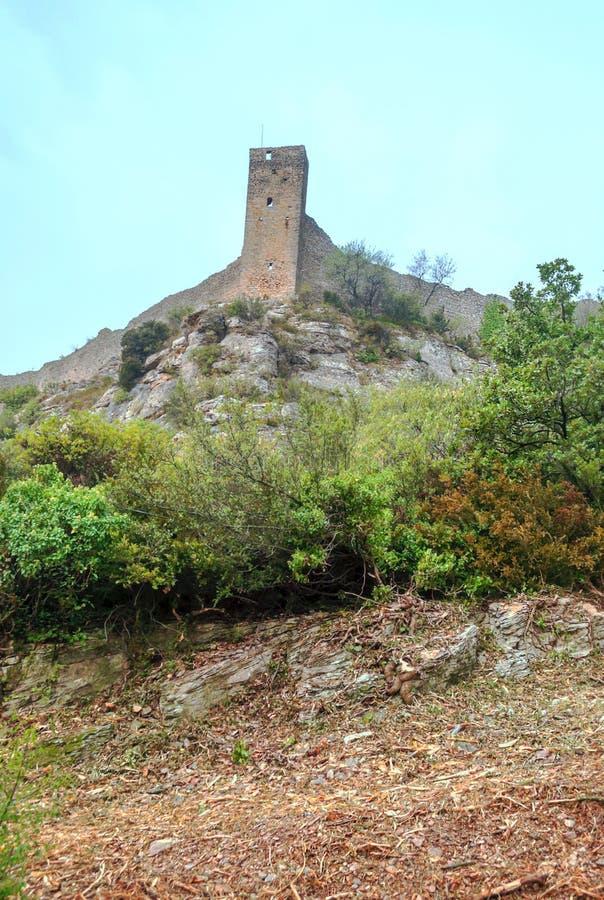 Schloss des französischen Dorfs stockbilder