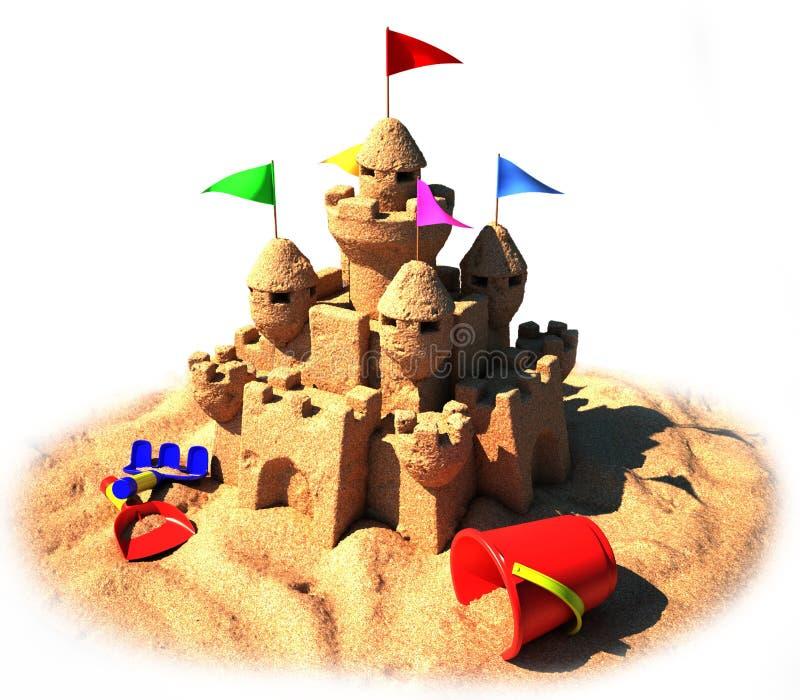 Schloss des Sandes 3d stock abbildung