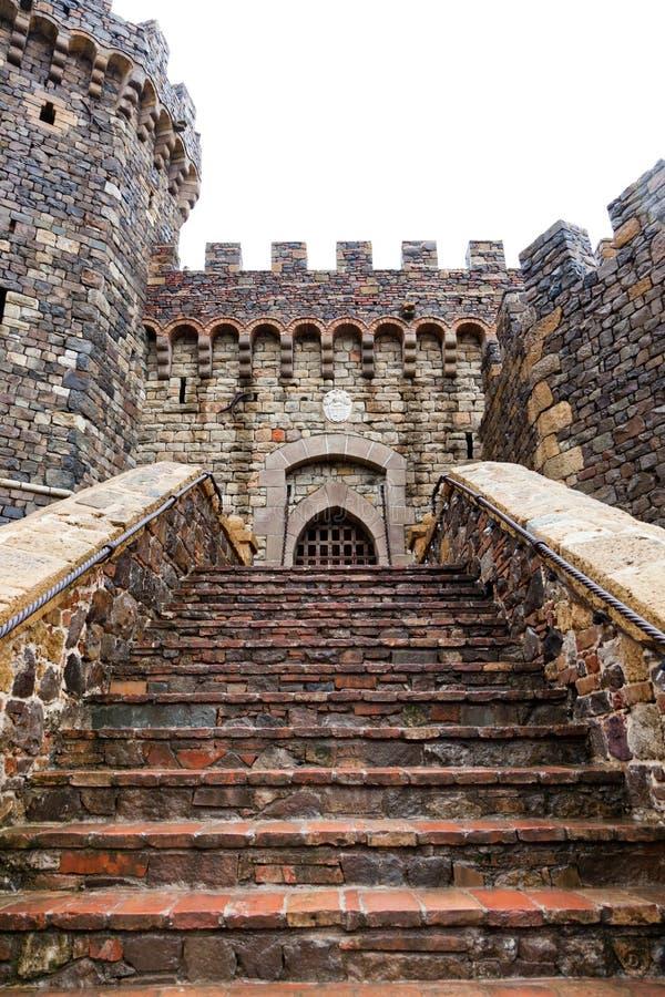 Schloss-Eingangs-Schritte lizenzfreie stockbilder