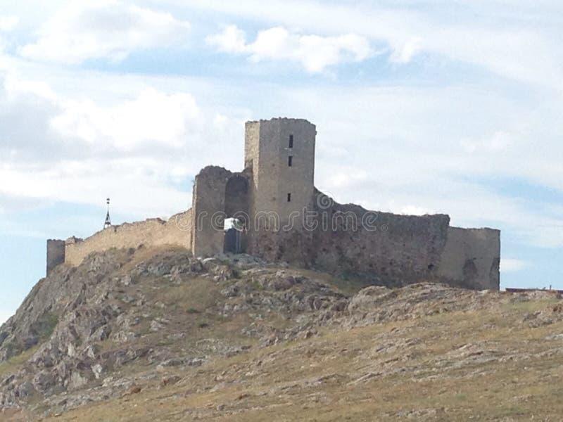 Schloss Enisala stockfotografie