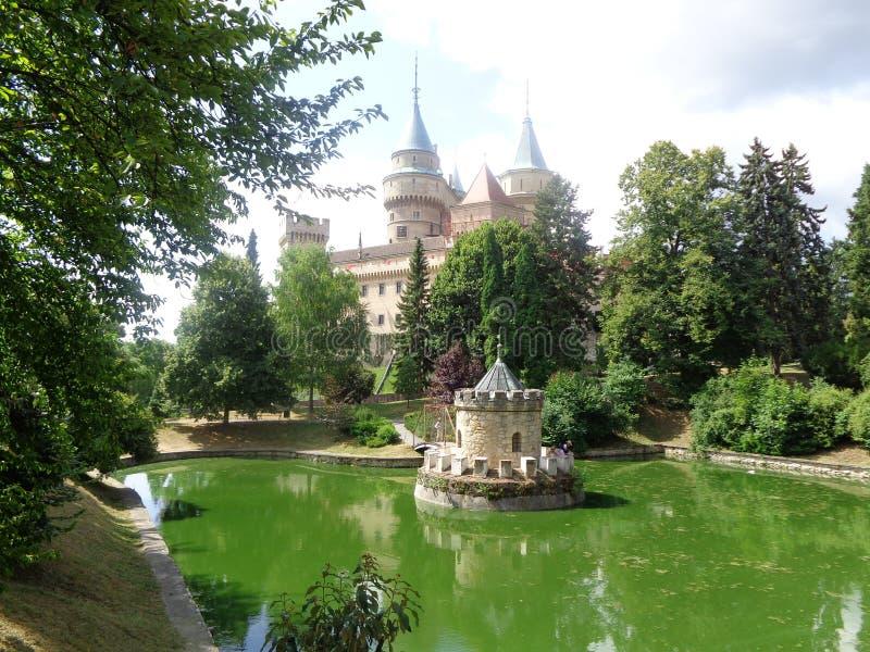 Schloss für Slowakei Bojnice stockfoto