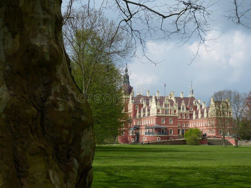 Schloss in falschem Muskau lizenzfreies stockfoto