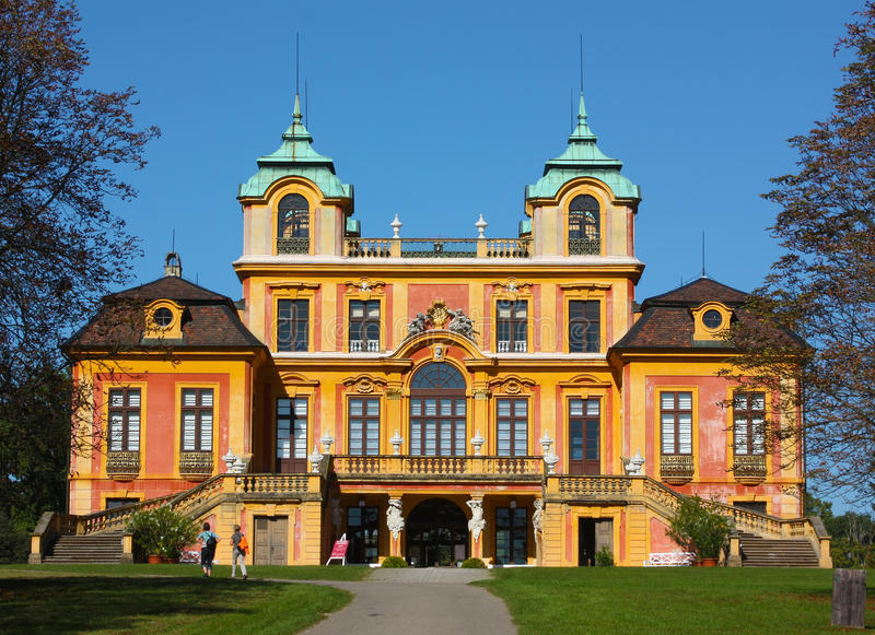 """Schloss Favorite in Ludwigsburg.Germany. Situated near Stuttgart and known as the """"Versailles of Swabia"""", Ludwigsburg was founded in 1704 on the royalty free stock photos"""