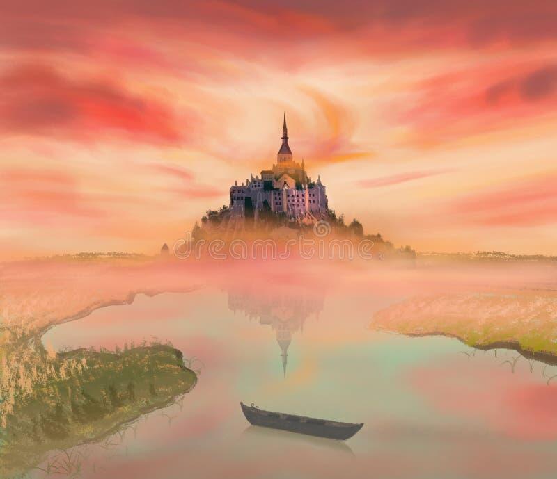 Schloss Frankreichs Normandie, das Landschaft glättet lizenzfreie stockfotografie