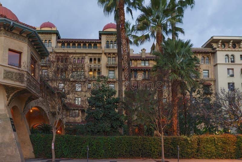 Schloss-Grün in Pasadena stockfotografie