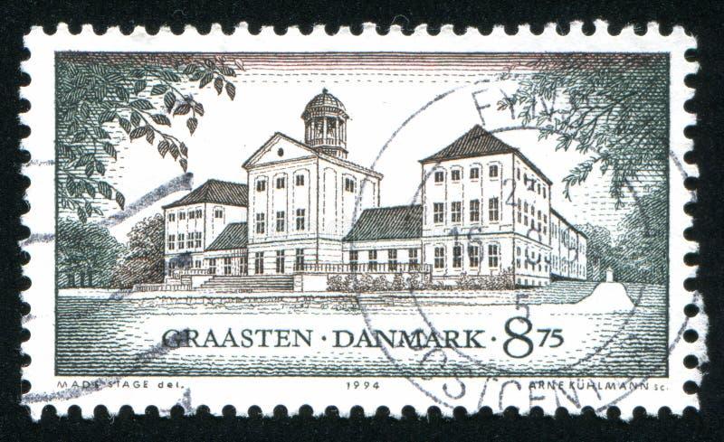 Schloss Graasten Süd-Jütland stockbild