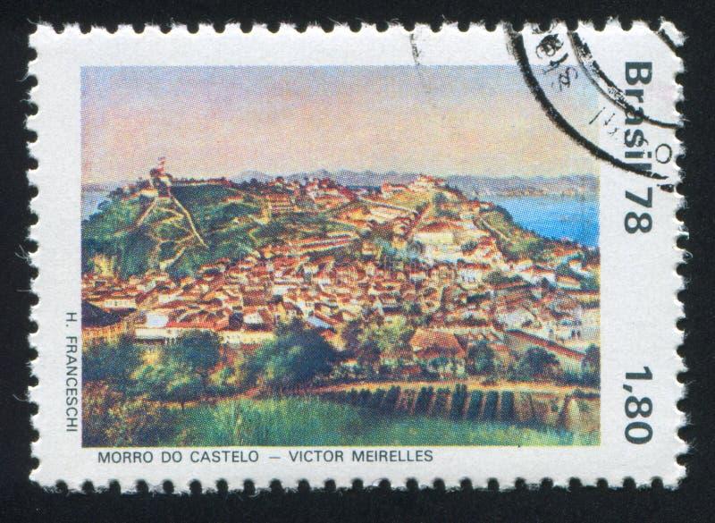 Schloss-Hügel durch Victor Meirelles stockbilder
