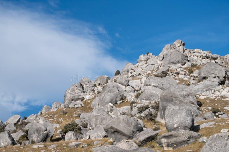 Schloss-Hügel, Neuseeland lizenzfreies stockbild