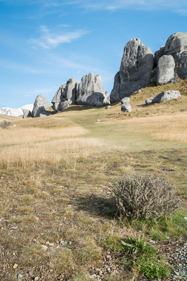 Schloss-Hügel, Neuseeland lizenzfreies stockfoto