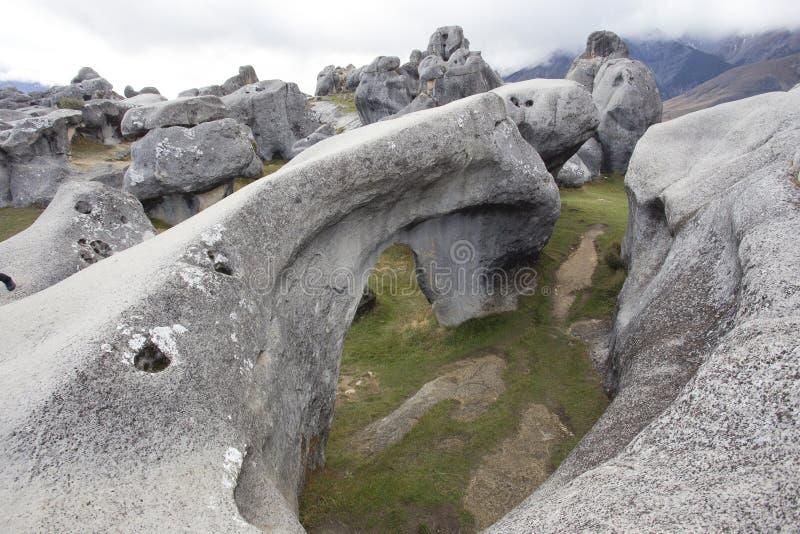 Schloss-Hügel, Neuseeland lizenzfreie stockbilder