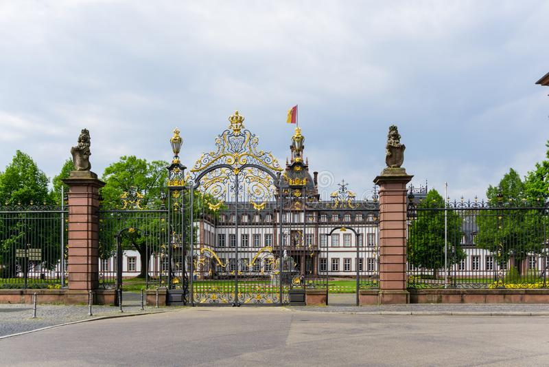 Schloss Hanau Philippsruhe hessen germany arkivfoto