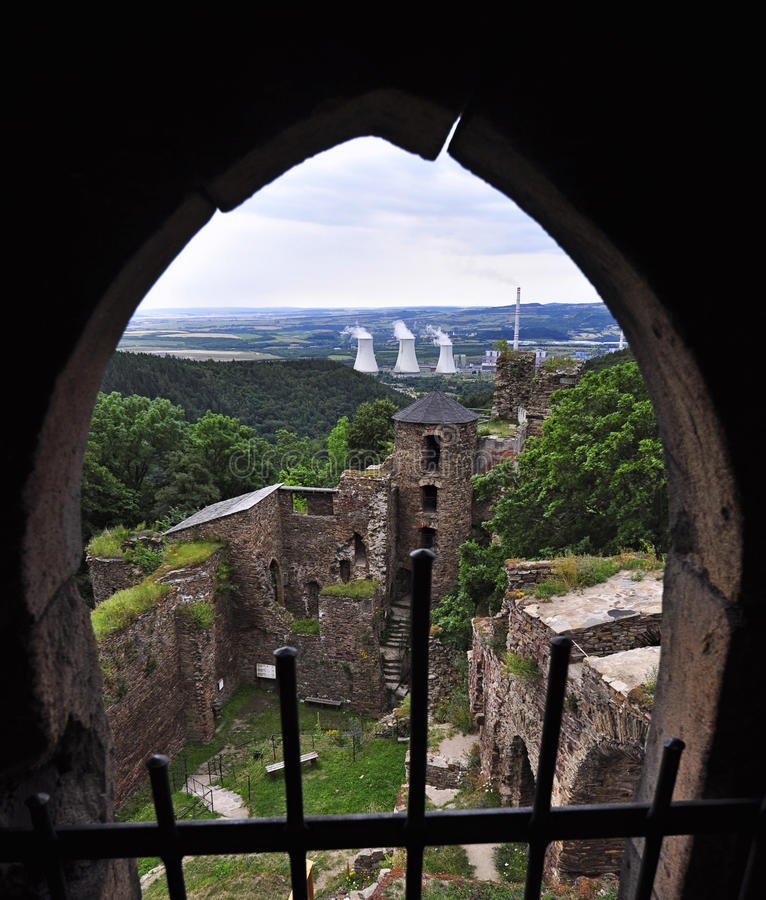 Schloss Hasistejn lizenzfreies stockbild