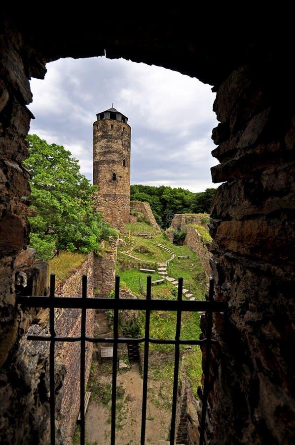 Schloss Hasistejn stockbilder