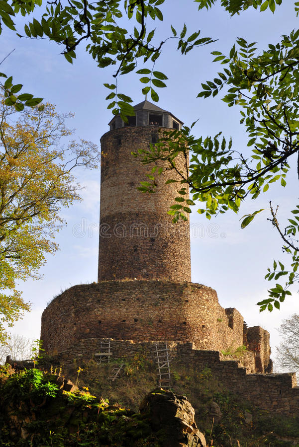 Schloss Hasistejn stockfotografie