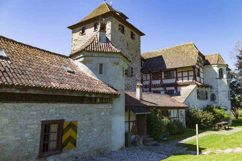 Schloss Hegi Cidade Winterthur, Su??a fotos de stock
