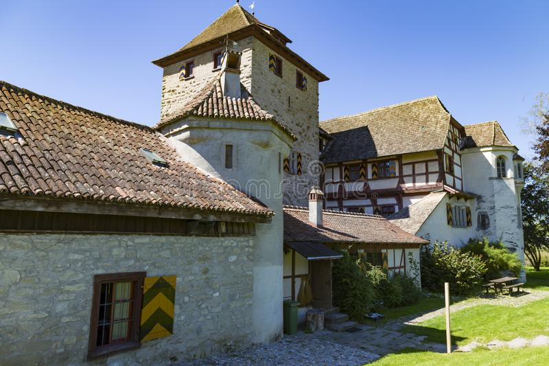 Schloss Hegi Citt? Winterthur, Svizzera fotografie stock