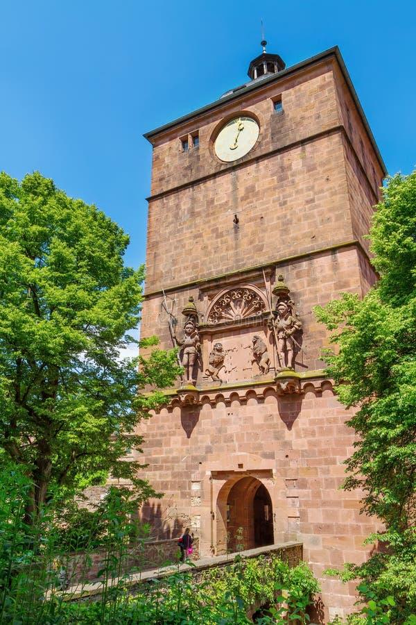 Schloss Heidelberg in Deutschland lizenzfreies stockfoto