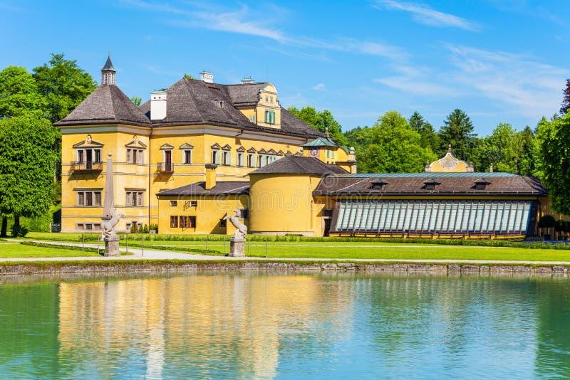 Schloss Hellbrunn宫殿,萨尔茨堡 免版税库存照片