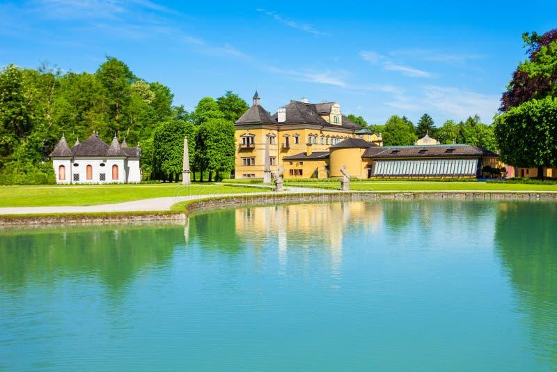 Schloss Hellbrunn宫殿,萨尔茨堡 库存照片