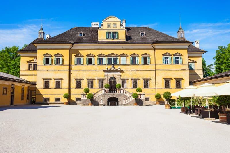 Schloss Hellbrunn宫殿,萨尔茨堡 库存图片