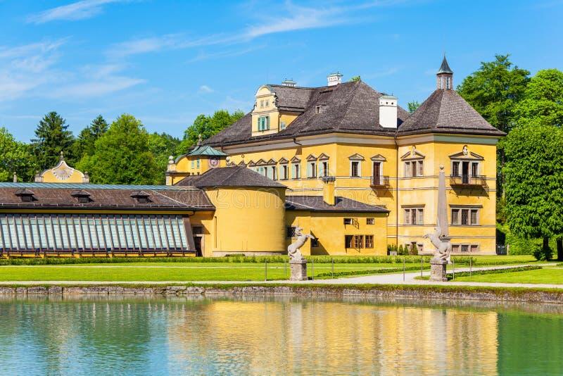 Schloss Hellbrunn宫殿,萨尔茨堡 免版税库存图片