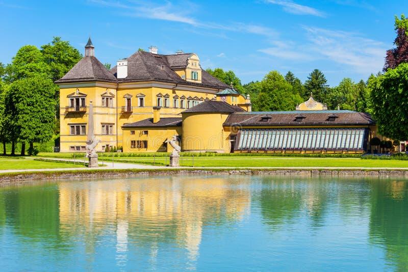 Schloss Hellbrunn宫殿,萨尔茨堡 免版税图库摄影
